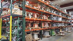 All stocked up on bare copper. You need it? We've got it! #ace #acewire #copper #wire #cable #barecopper #reels #warehouse