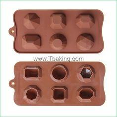 Encontre mais Forma de bolo Informações sobre Tc Silicone diamante forma de Chocolate moldes dos doces molde de gelo bolo moldes Bakeware, de alta qualidade Forma de bolo de Cake Tools Supplier em Aliexpress.com