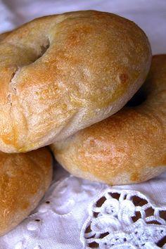 bagels Bagels con la pasta madre