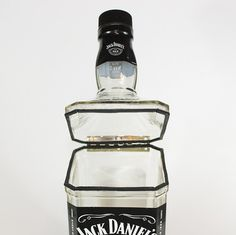 Jack Daniel's Hinged Canister  Upcycled from by CountryRichDesigns, $45.00