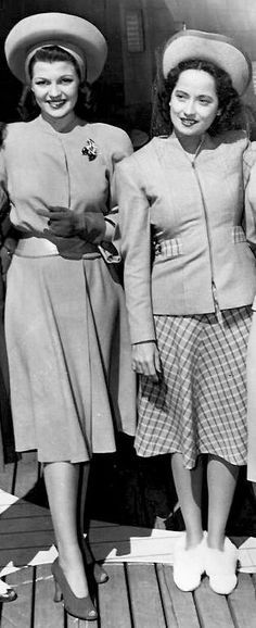 Rita Hayworth and Merle Oberon.