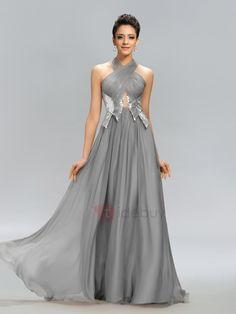 #TideBuy - #TideBuy Halter Ruched Sequins Long Evening Dress Designed - AdoreWe.com