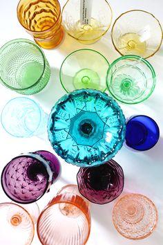 In progress- Elsie's Rainbow Glassware Collection!