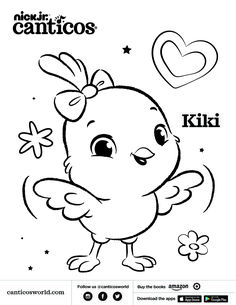 #canticos #canticosworld #littlechickies #lospollitos #kikichickie  #coloringpages #printables #toddlers #kids #bilingual Baby Disney Characters, Fictional Characters, Latino Art, Learning Resources, Coloring Pages, Language, Snoopy, Cartoon, Books
