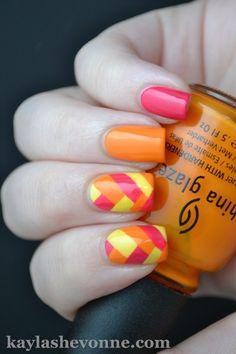 Bright Braided Manicure