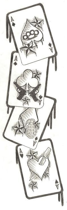 Cards Tattoo Design by ~Nixxxxx on deviantART This could be seriously awesome. (yarns tattoo)