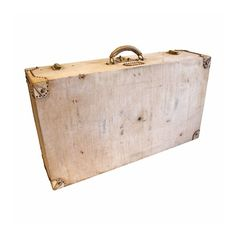 Hermes 1940s canvas and leather edge suitcase -$1950.