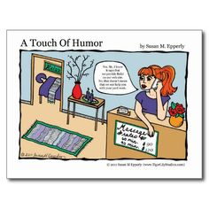 """A Touch of Humor"" Reiki Energy Work Massage Comic http://www.zazzle.com/TigerLilyStudios?rf=238891780775066757"