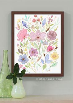 8 x 10 Watercolor Painting Print Abundance by stephanieryanart, $22.00