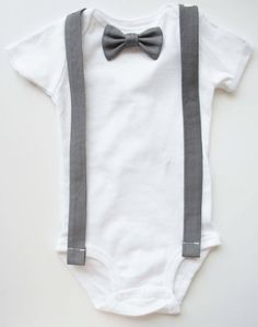 Changeable  Baby Boy Tie and Bow Tie Onesie  T with by LouEmbres