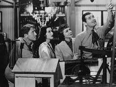 1940 - Clark Gable, Hedy Lamarr, Claudette Colbert and Spencer Tracy in Boom Town