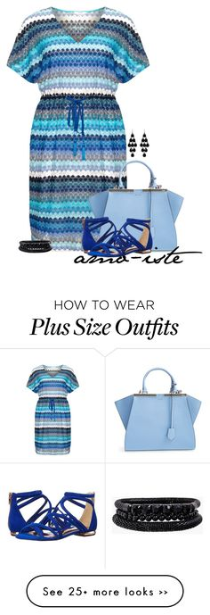 """Crochet Dress - Plus Size"" by amo-iste on Polyvore"