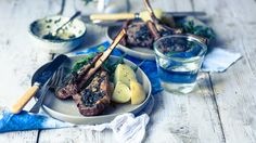 Lamb Chops & Potatoes Lamb Chops, Dublin, Food Photography, Potatoes, Cheese, Dishes, Plate, Potato, Tablewares