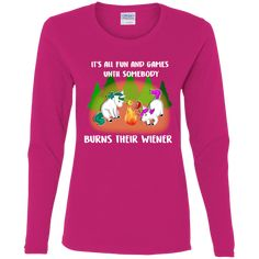 It's All Fun And Games Camping Unicorn T Shirts – Gift for Crush