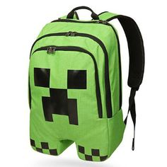 New Children School Minecraft Backpack Rucksack Student Book Bag Creeper Gift #Unbranded