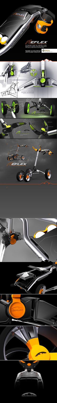 Reflex Golf cart design presented at the PGA show 2014 in ORLANDO