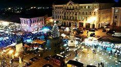 Kerstmarkt in het centrum van Pecs Hongarije
