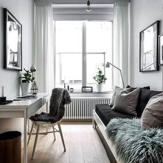 Small space done perfectly. via @scandinavianhomes #scandinavian #interior #homedecor #simplicity #whiteliving
