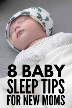 8 Baby Sleep Tips for New Moms | Sleep deprivation is no joke, and figuring out how to get your newborn to sleep for longer stretches can make all the difference in your mental well-being. If you're looking for baby sleep schedules by age, soothing sleep products to help your baby feel safe and secure, and/or mom hacks to help your baby sleep through the night, this post has it all! #baby #sleep #babysleep #mom #newmom  #babyproducts #newborn #MyHushHat #babysleeping #babynapping Moms Sleep, Help Baby Sleep, Hebrew Baby Names, Baby Gas Relief, Toddler Sleep Training, Gassy Baby, Baby Sleep Schedule, Baby Care Tips, Mom And Baby