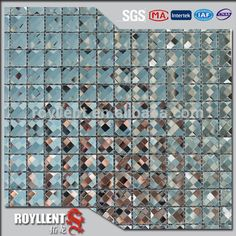 Royllent 13face Diamond Shaped Mosaic Mirror Crystal Glass Tiles 305*305mm