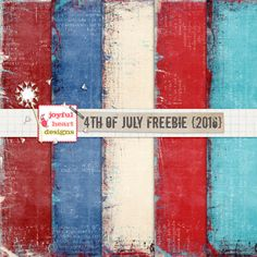 Quality DigiScrap Freebies: 4th of July paper pack freebie from Joyful Heart Designs