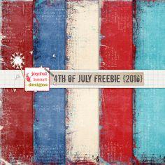 Quality DigiScrap Freebies: 4th of July paper pack freebie from Joyful Heart Designs