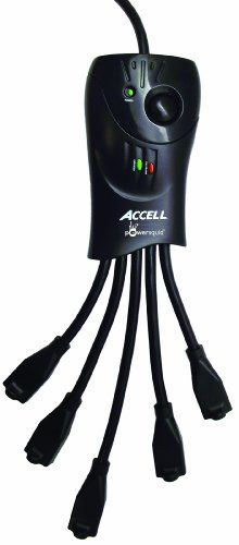 Accell D080b-008K 3 Foot Cord Powersquid 1080 Joules Surge Protector With Power Conditioner And 5 Outlets, 2015 Amazon Top Rated Power Protection #CE