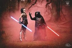 First Shot from a Revan & Satele Shan Cosplay Shoot Done this Weekend