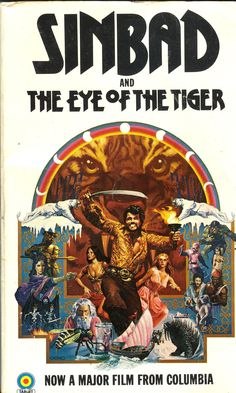 Sinbad and the Eye of the Tiger - John Ryder Hall (Target Sf Movies, Good Movies, Science Fiction Books, Pulp Fiction, Sinbad The Sailor, Stop Motion Movies, Tiger Poster, Clash Of The Titans, Old Hollywood Movies