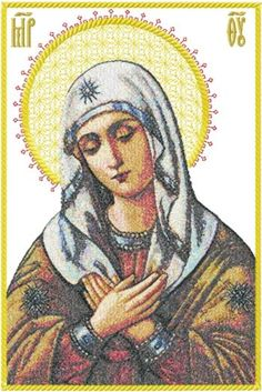 Advanced Embroidery Designs - Orthodox Icon Holy Virgin Eleusa