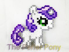 My Little Pony Perler Silly Filly: Sweetie Belle par ThePerlerPony