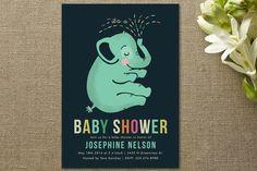 Baby Elephant Baby Shower Invitations @Tiffany Fisher