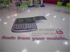 This 3D Large Format Floor Graphic was designed and installed in India for Kotak Securities.