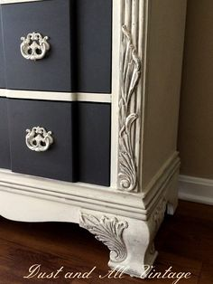 A lovely dresser finished in Old White Chalk Paint® decorative paint by Annie Sloan | By Dust and All Vintage https://www.facebook.com/DustAndAll?fref=photo