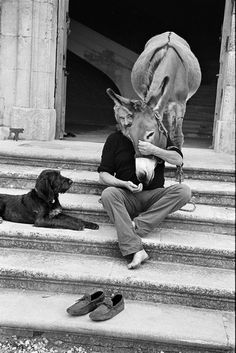 Elliott Erwitt (b. 26 July 1928 Paris, France) is an advertising and documentary photographer known for his black and white candid shots of ironic and absurd situations within everyday settings— a master of Henri Cartier-Bresson's Documentary Photographers, Famous Photographers, Elliott Erwitt Photography, Henri Cartier Bresson, Andre Kertesz, Jolie Photo, Magnum Photos, Mans Best Friend, Black And White Photography