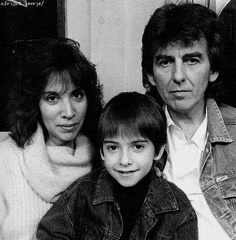 """Happy Birthday to my favorite human being, the Dark Sweet Lady, Olivia Arias Harrison. She is truly a special, beautiful woman. Hope your coming year kicks ass Liv! """"Olivia Harrison is a fucking cool. George Harrison, Olivia Harrison, Ringo Starr, Paul Mccartney, John Lennon, The Beatles 1, George Beatles, Music Genius, The Quiet Ones"""