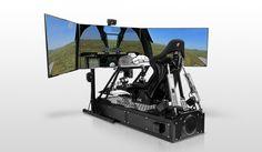 Motion Pro II set up as a flight simulator.