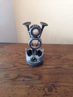 Early Ford V8 Metal Art Symbol Welded Old Engine by JoeZegley, $35.00