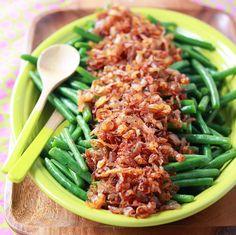 Judías verdes con cebolla ahumada | #Receta de cocina | #Vegana - Vegetariana ecoagricultor.com
