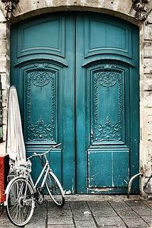 A blue door in Paris.a blue door for me!