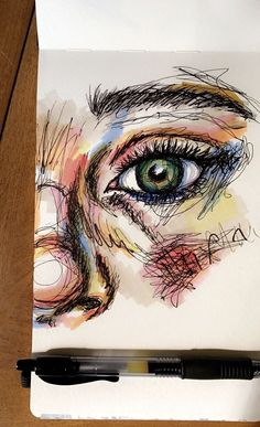 Cool Art Drawings, Pencil Art Drawings, Art Drawings Sketches, Gcse Art Sketchbook, Aesthetic Art, Art Inspo, Painting & Drawing, Amazing Art, Watercolor Art