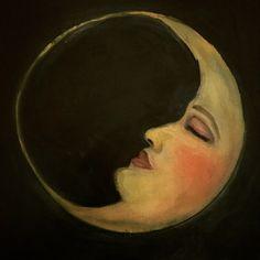 Vintage drawing moon la luna 35 new ideas Vintage Drawing, Vintage Art, Art Bizarre, Sun Moon Stars, Moon Pictures, Moon Painting, Moon Magic, Beautiful Moon, Moon Art