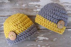 Baby Boy Hats  Twin Baby Boy Hats  Crochet baby by SeashoreKidz, $29.95
