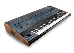 Oberheim OB-8- polyphonic analog synth- launched in '83 and discontinued in '85 . Rare to find and pricey if found. Used by many artists in the 80s including prince, queen, Depeche mode. As well as some 90s electronic artists such as The Klf and The future sound of London - Liza