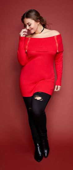 Plus Size Two Zip Top