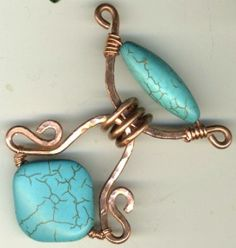 Scallop link by Laura Castano - great idea for a pendant bail.