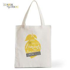 Tote Bag Rock my Citron,  Limoncello, Cadeaux Fêtes, Anniversaires, Naissances