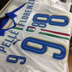 @pumafootball official Italy away euro 2016 @alessandroflorenzi #8 and @gpelle19_official #9 printings available now! Get your Italy away euro 2016 jersey with printings online at www.my-soccer.com #mysoccerstore #azzurri #euro2016 #forzaitalia #foreverfaster #pumafootball
