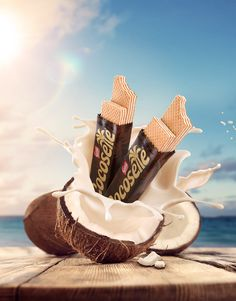 Cocosette 2016 on Behance Food Graphic Design, Food Poster Design, Food Design, Graphic Design Inspiration, Ads Creative, Creative Posters, Creative Advertising, Chocolate Typography, 3d Cinema