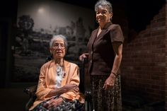 """Katherine Johnson, left, and Christine Darden, two of the former NASA mathematicians in the book """"Hidden Figures."""" Credit Chet Strange for The New York ."""